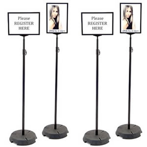 lollipop sign holder rental