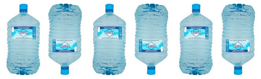 Justeau bottled water
