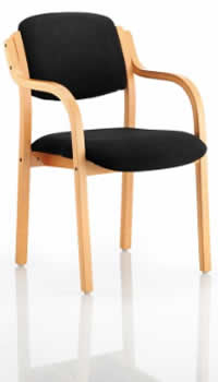 madrid chair with arms in black