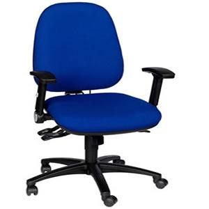 Rental blue multi lever ergonomic chair