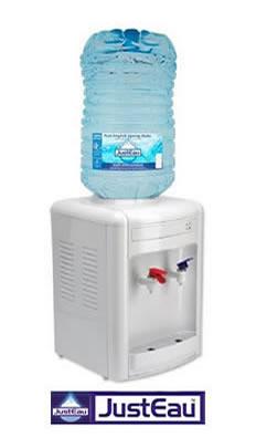 Rental desktop hot and cold water dispenser with 15 litre bottle