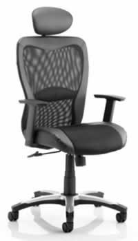 Rental mesh high back office chair