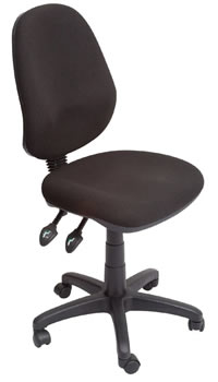 Rental black operator chair with levers