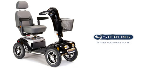 Rental Sterling diamond mobility scooter