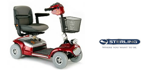 Rental Sterling Sapphire mobility scooter