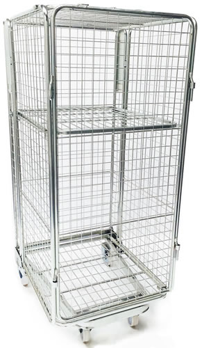 Silver A-frame roll cage