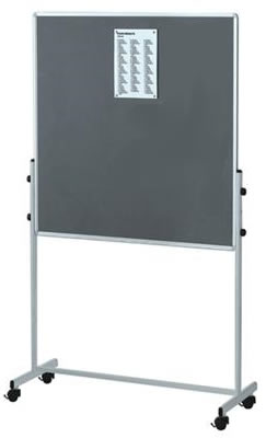 grey rental combination mobile notice boards